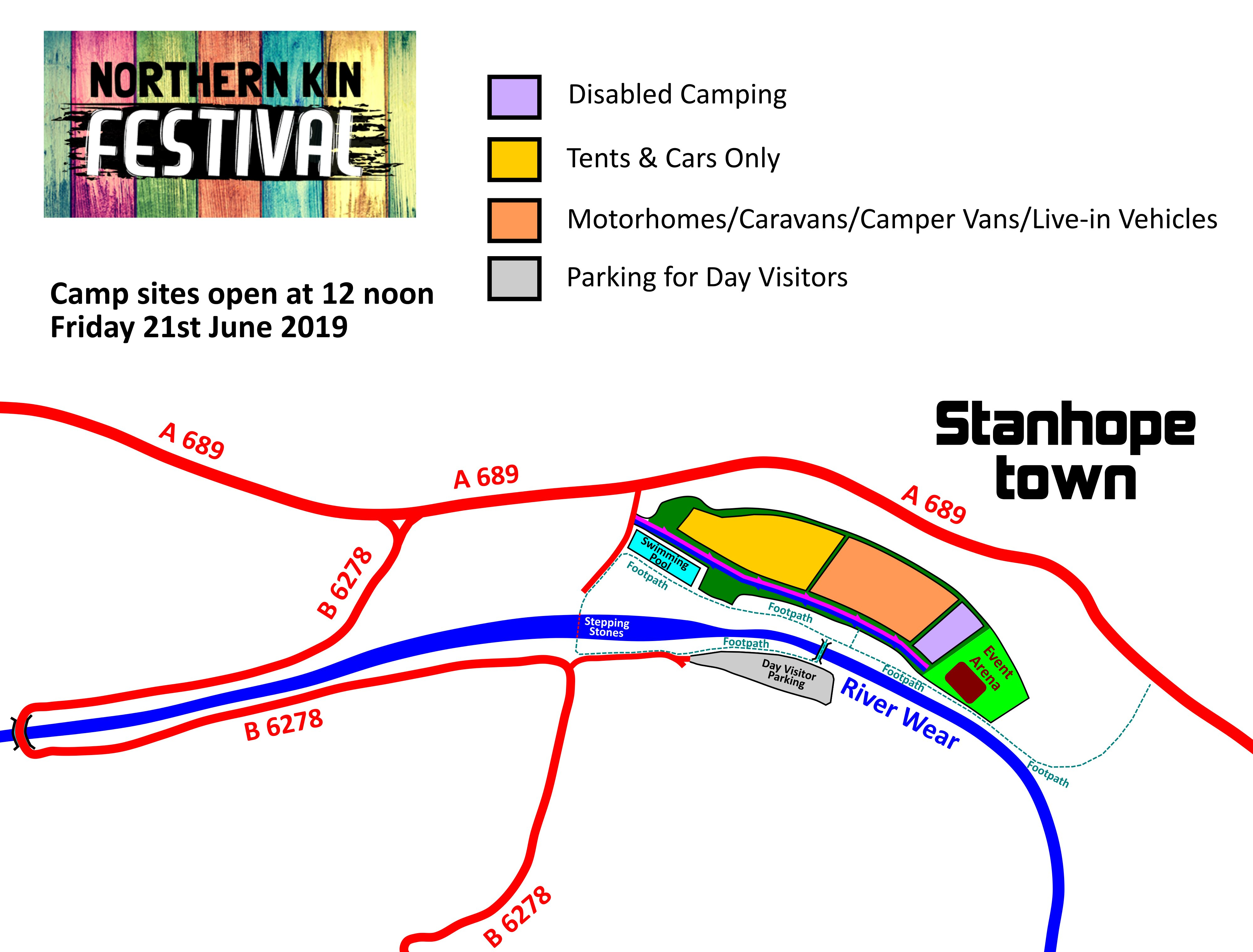 Event info northern kin festival for Stanhope swimming pool opening hours