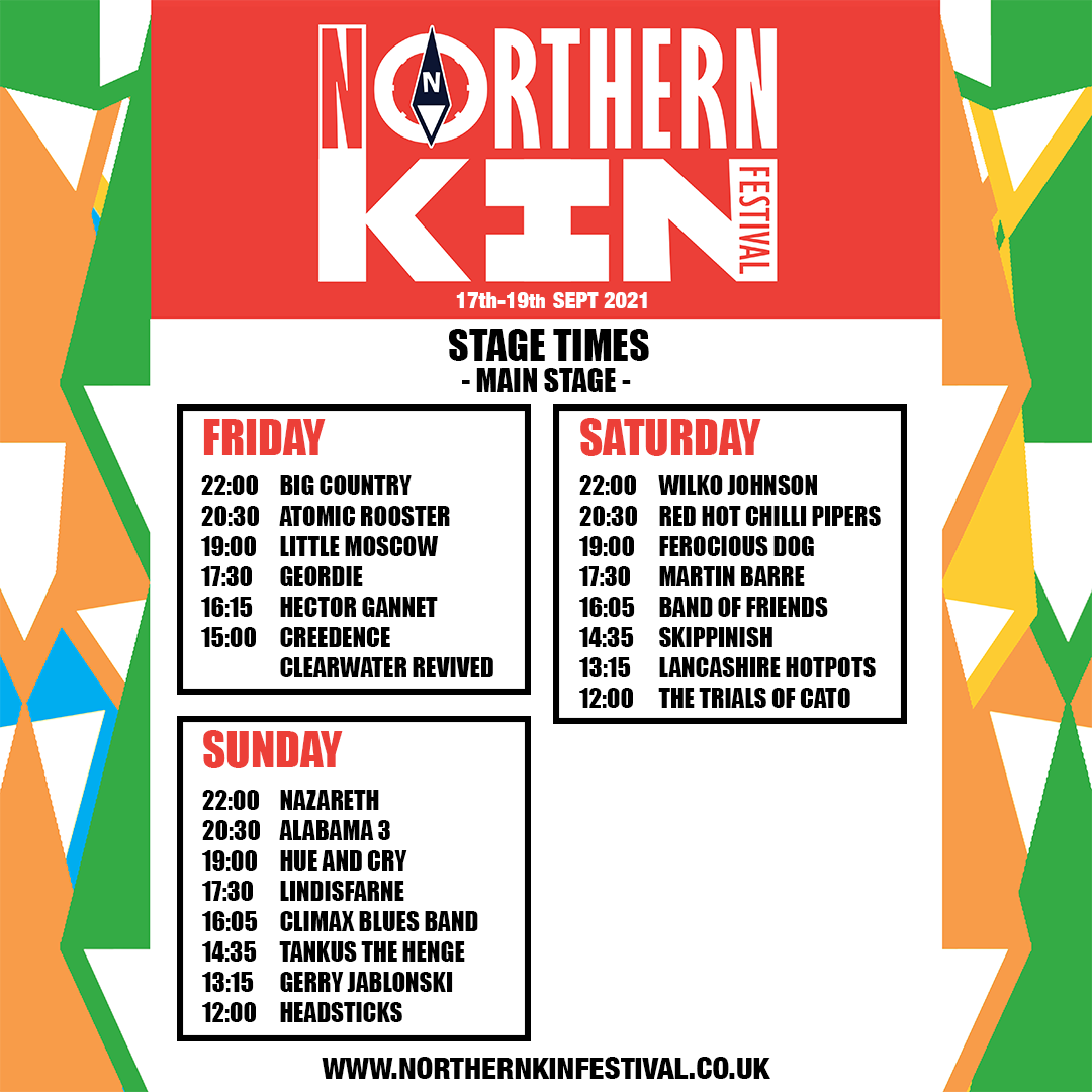 northern kin stage times